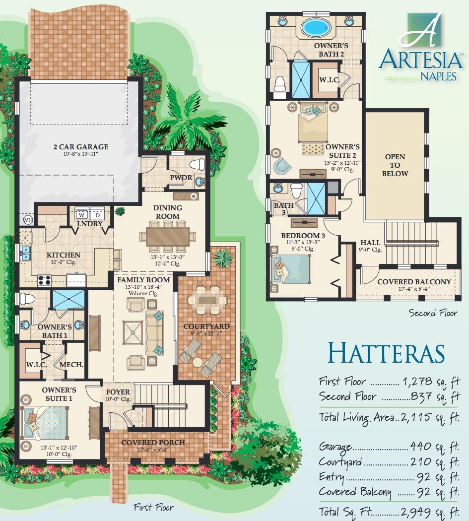hatteras floor plan