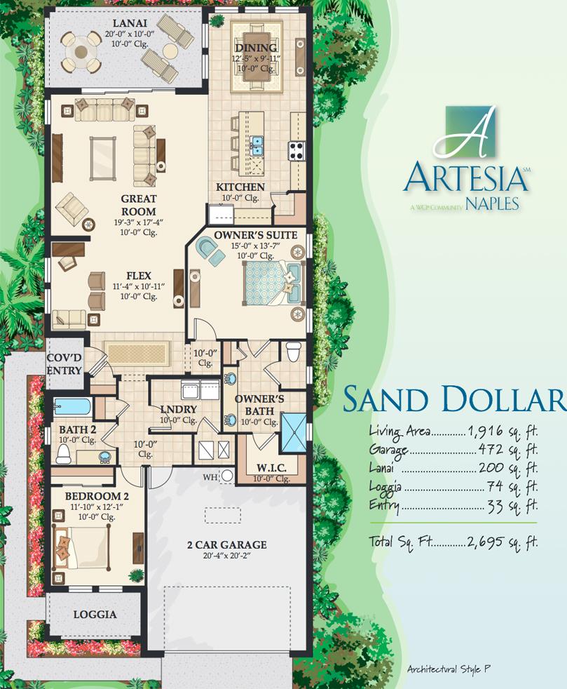 Sand Dollar floor plan