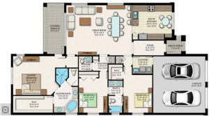 Alamanor Floor Plan in Ave Maria