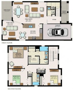 Balboa Floor Plan in Coquina