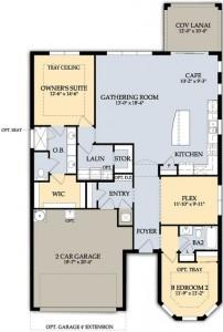 Abbeyville Floor Plan in Del Webb Naples