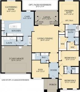 Hampton Village Delaney floor plan