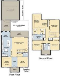 Baypoint Floor Plan in Ave Maria