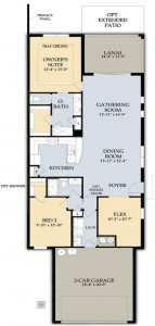 Serenity Floor Plan in Del Webb Naples