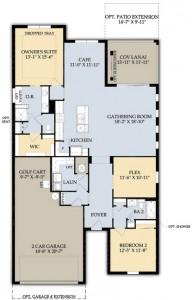 Summerwood Floor Plan Del Webb Naples Ave Maria