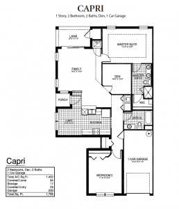 Creekside Preserve - Capri Floor Plan