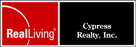Real Living Cypress Realty, Inc. (800) 741-3757 logo
