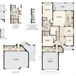 Esplanade Hacienda Lakes - Trevi VII Floor Plan (2 Car Garage)