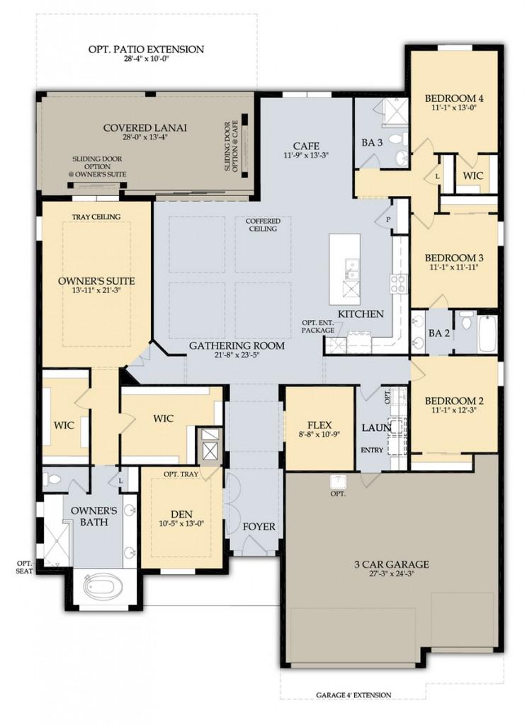Clubview floor plan at Greyhawk Naples