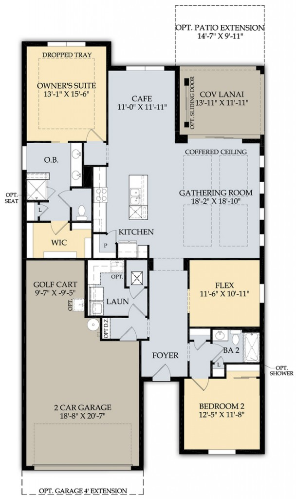 Summerwood Floor Plan at Greyhawk Naples