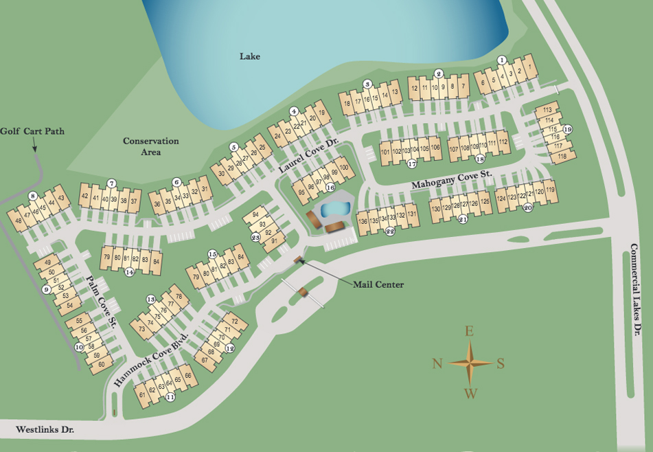 Hammock Cove Fort Myers Site Plan