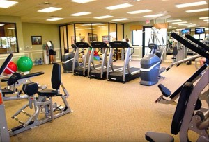 fitness center at bella terra