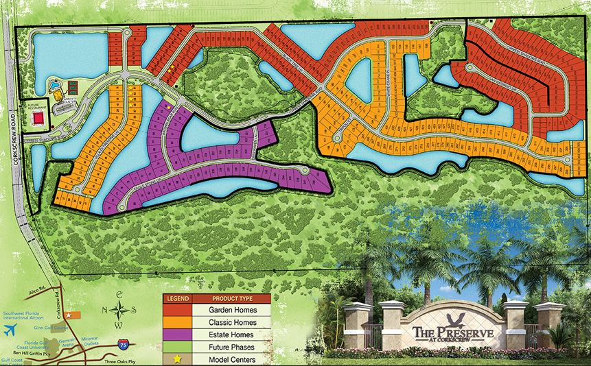 preserve at corkscrew site map
