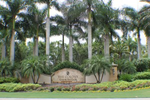 The Colony Golf & Bay Club - Sign