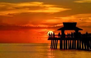 Beautiful sunsets beyond Kalea Bay