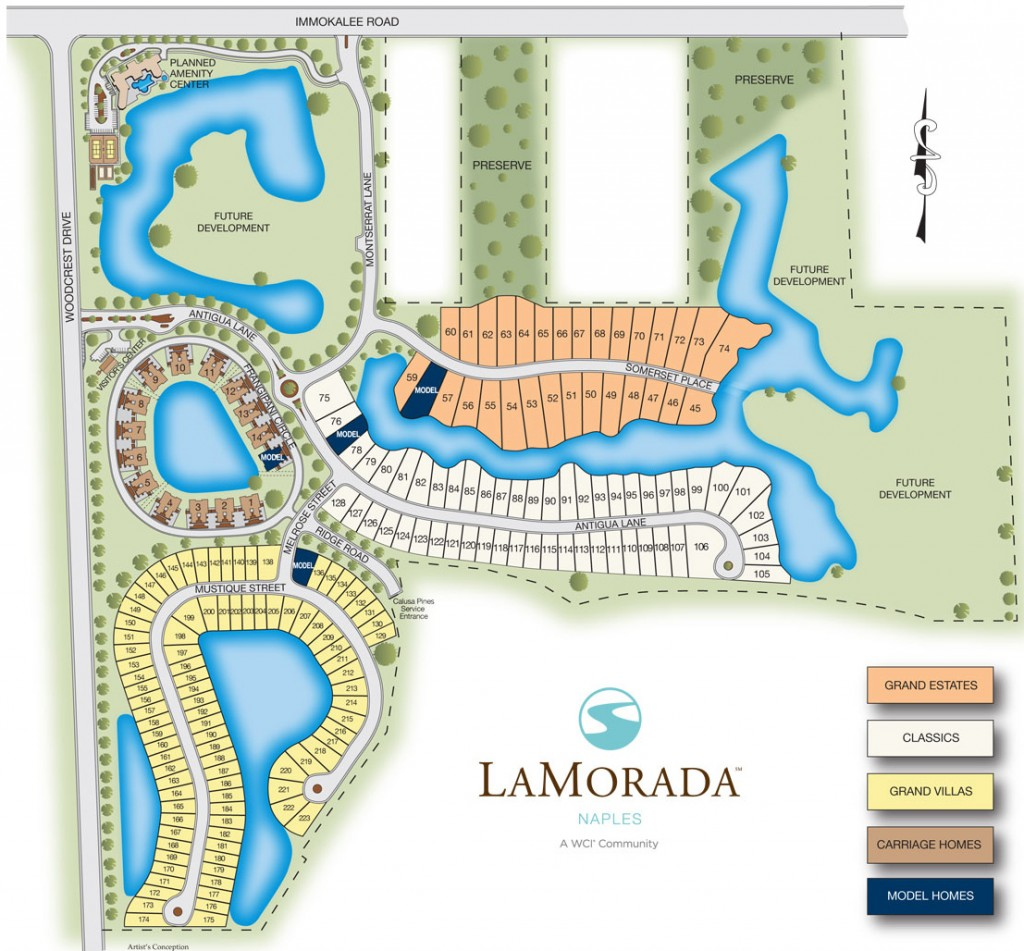 LaMorada Naples Site Plan