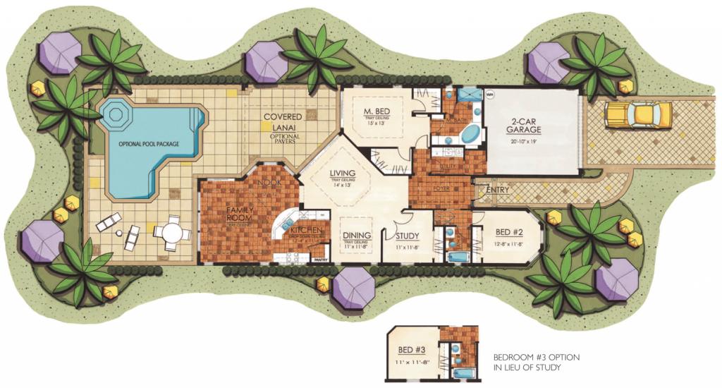 Lantana Olde Cypress - Florence II Floor Plan