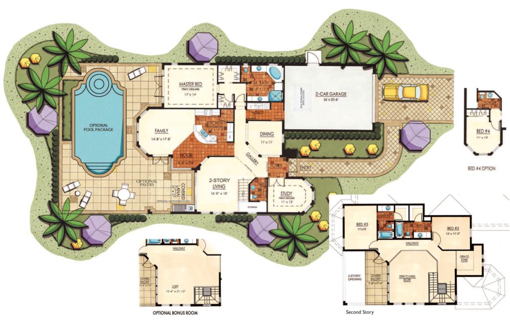 Lantana Olde Cypress - Palermo II Floor Plan