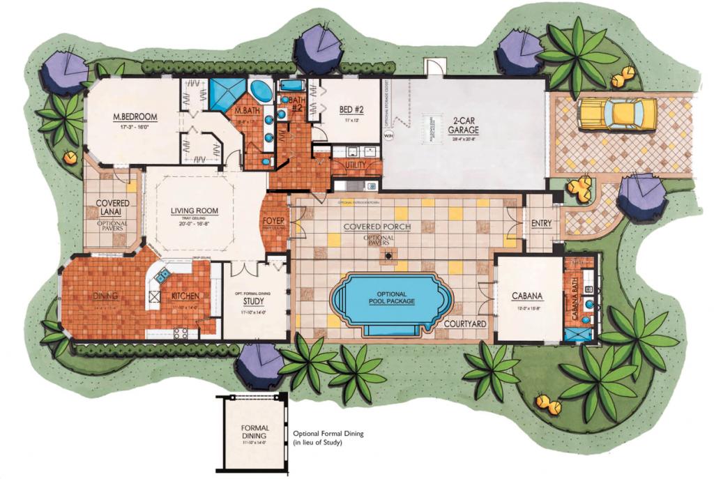 Lantana Olde Cypress - Salerno II Floor Plan
