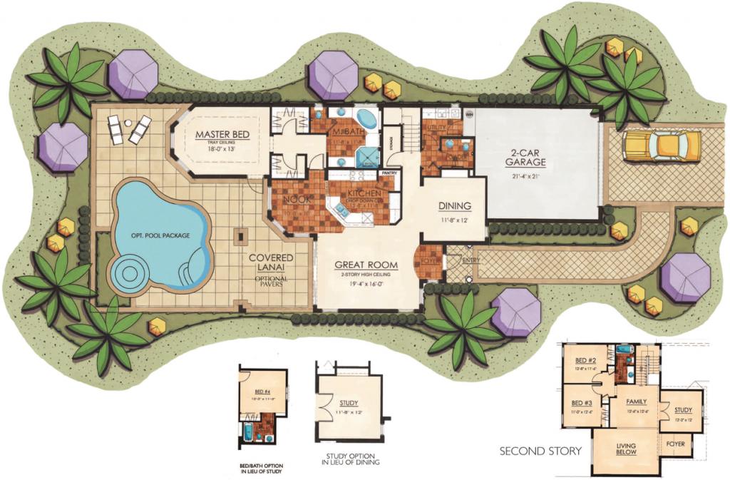 Lantana Olde Cypress - Sicily II Floor Plan