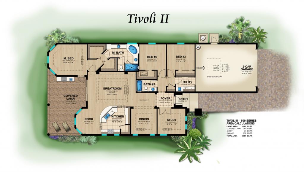 Lantana Olde Cypress - Tivoli II Floor Plan