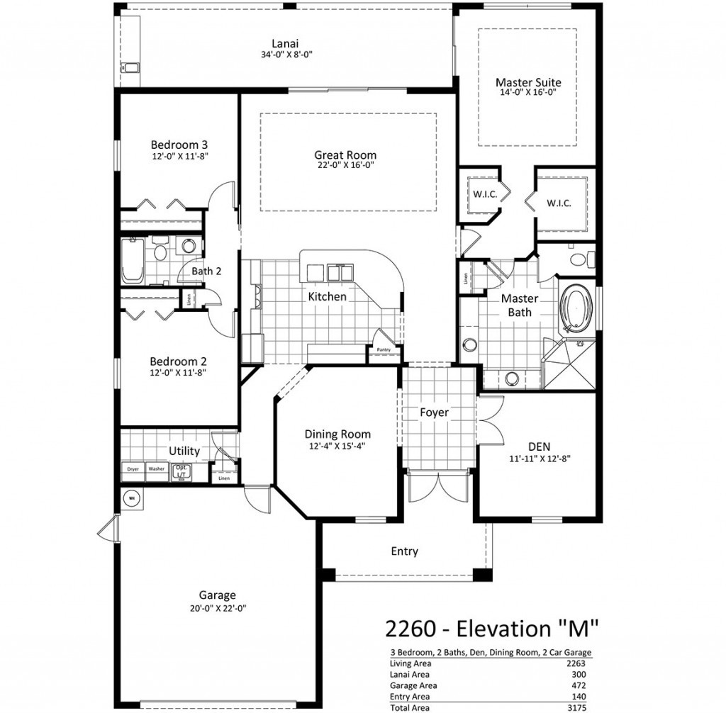 Brookfield-Floor-Plan-Ele-M-2-Car-Garage-1024x1006