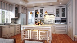 Kitchen in the Keewaydin home design.