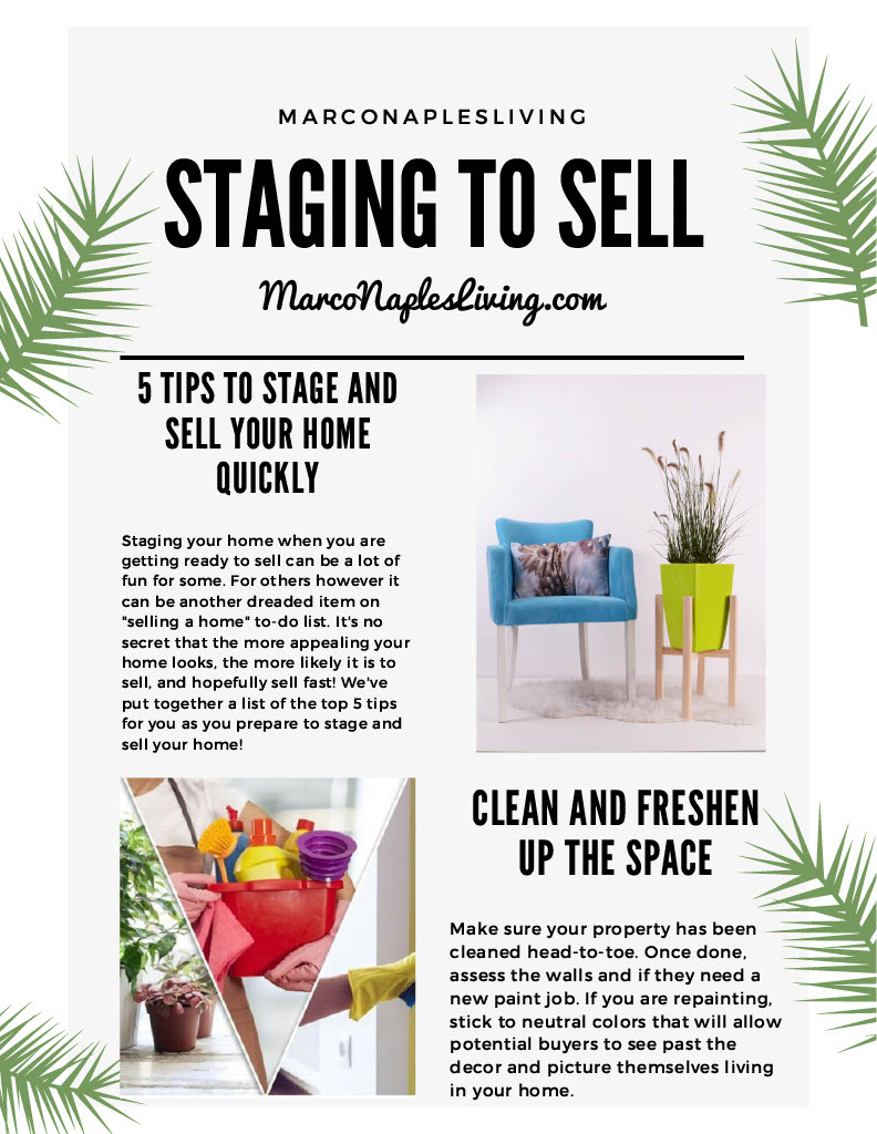 staging to sell Marco Island
