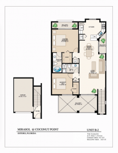 The Clematis 2 Bedroom/2 Bathrooms 1,314 A/C Square Feet