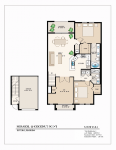 The Evernia 13 Bedroom/2 Bathrooms1,402 A/C Square Feet