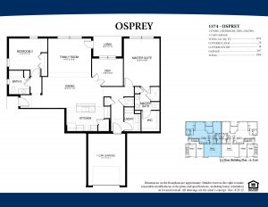 OspreyFirst Floor2 Bedroom/2 BathroomsDen1 Car Garage1,574 A/C Square Feet