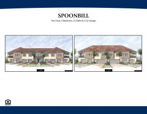 Spoonbill Two Story 3 Bedroom/2 ½ Bathrooms 2 Car Garage 1,655 A/C Square Feet