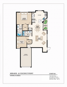 The Wisteria 2 Bedroom/2 Bathrooms 1,139 A/C Square Feet