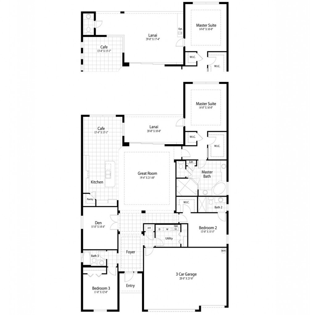 Hawthorne, Floor Plan, Mockingbird Crossing Naples Florida Home Sales