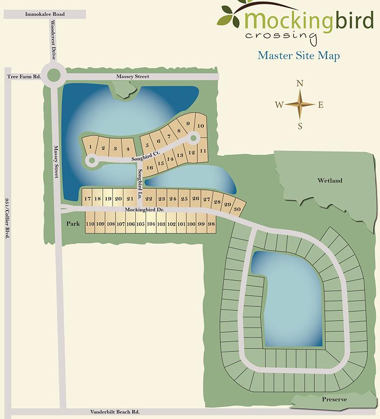mockingbird crossing naples site plan