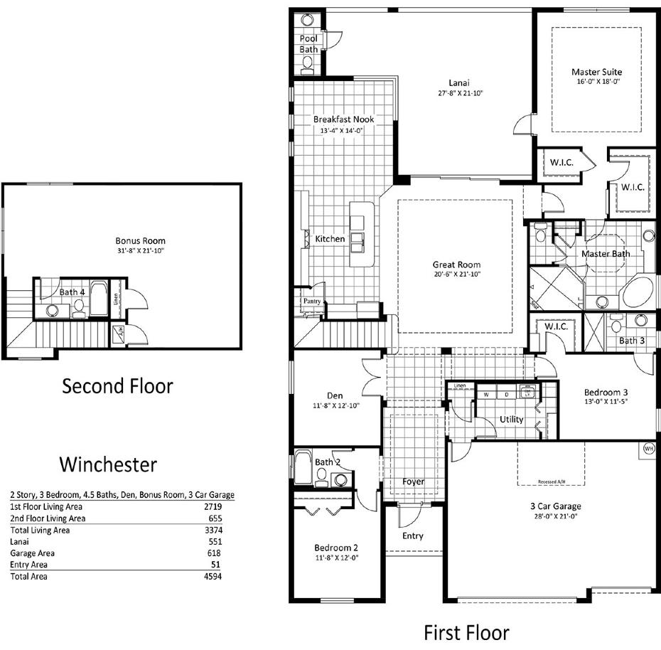 winchester floor plan