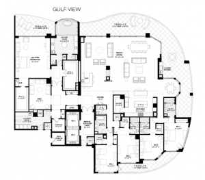 Penthouse 2- 5 bedrooms, den, 5.5 bathrooms and 10,150 sqft of living area