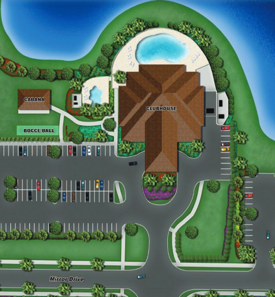 Please Click Image for a Detailed View of the Reflection Lakes Community Amenities