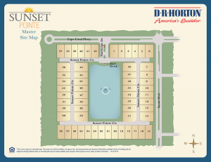 Sunset Pointe site plan - homes for sale in Cape Coral, Florida Real Estate