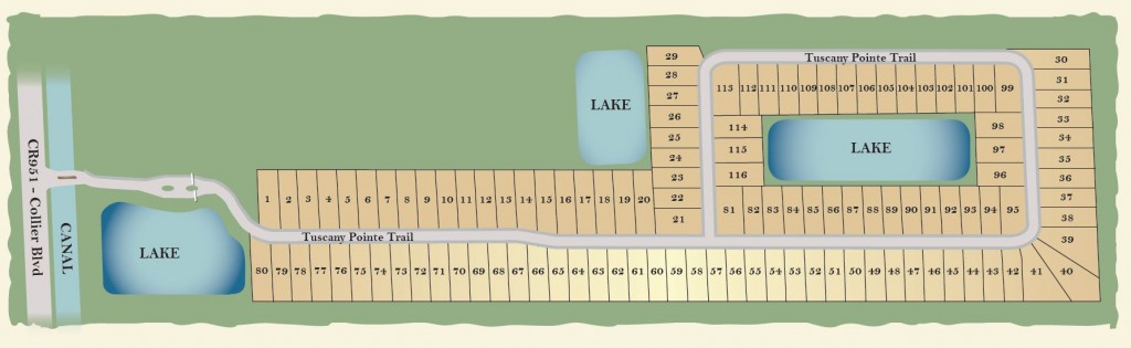 Tuscany Pointe Naples Site Plan