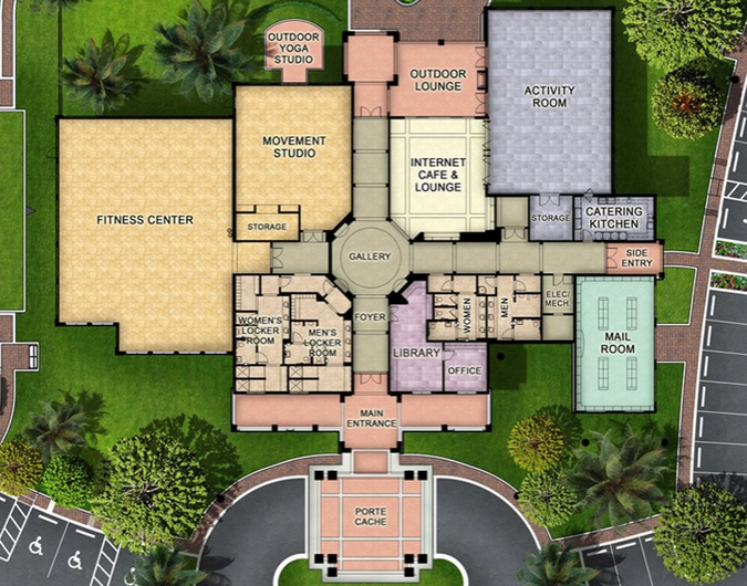 Winding Cypress Naples Site Plan for Amenity Center