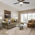 Great Room with custom Plantation Shutters in a condo at Blue Heron, as gated community in Naples Florida