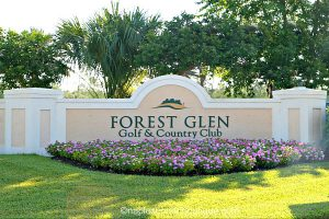 Enrance to Forrest Glen Community, a gated community in South Naples, just off of Route 951, Collier Boulevard
